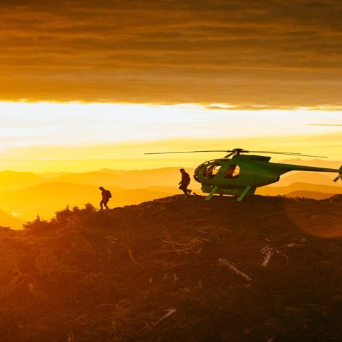 British Columbia Hero Heli Sunset