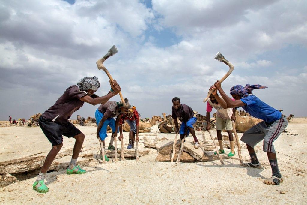 Danakil Salt Flats Work Ethiopia