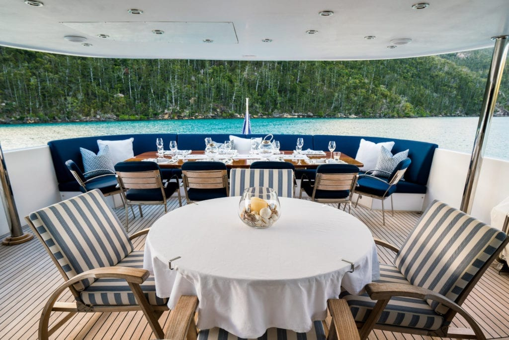 De Lisle III Yacht Deck Dining