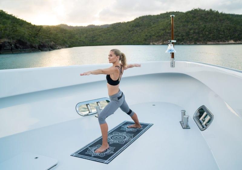 Yoga on board De Lisle III Yacht