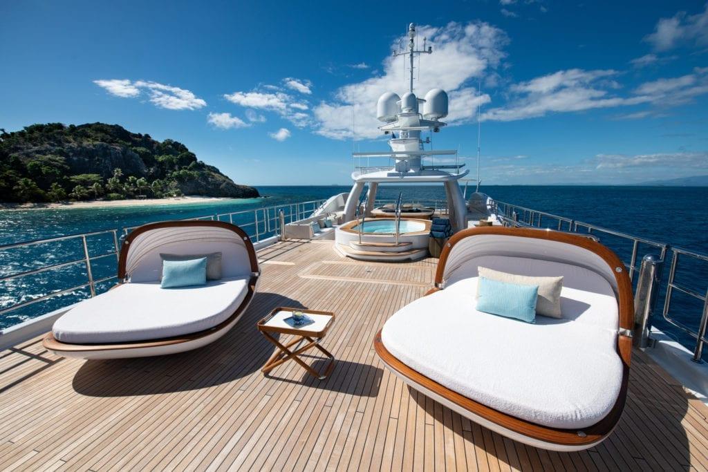 Sun Deck on Driftwood Yacht