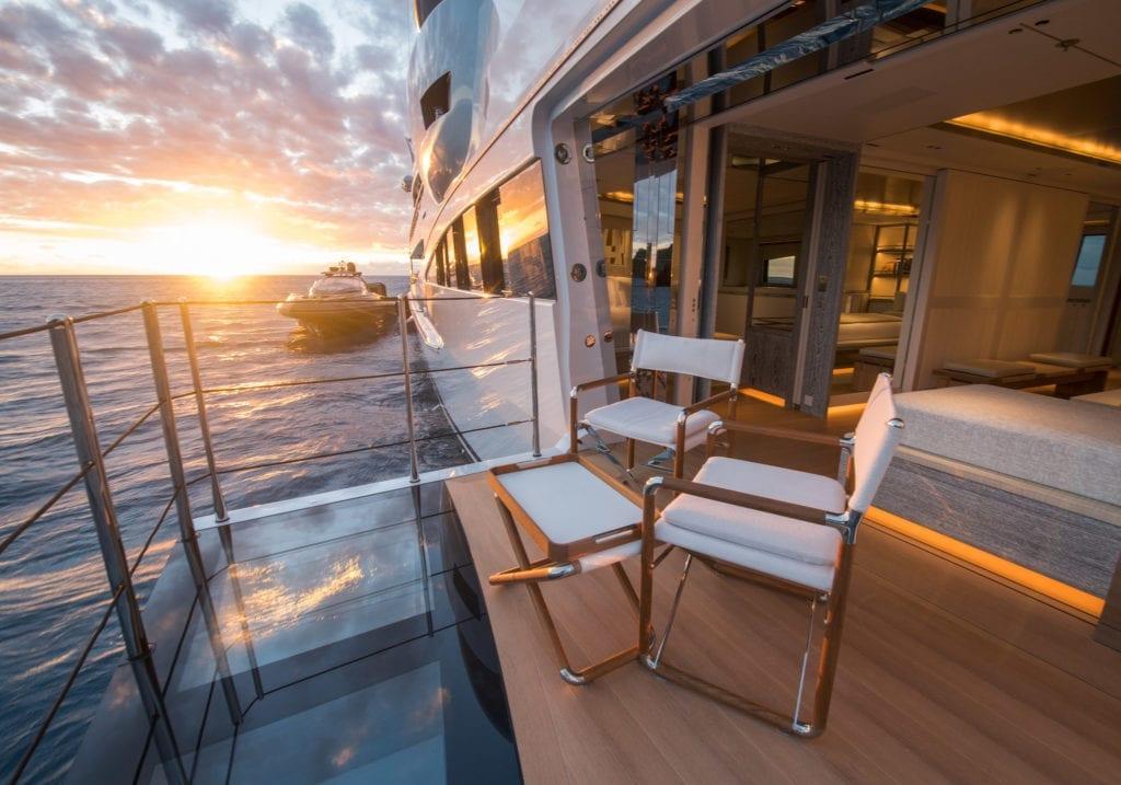 Master Balcony on Driftwood Yacht