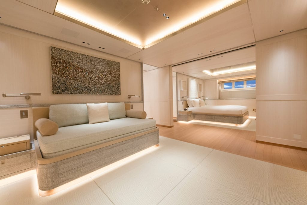 Guest Cabin Lounge on Driftwood Yacht