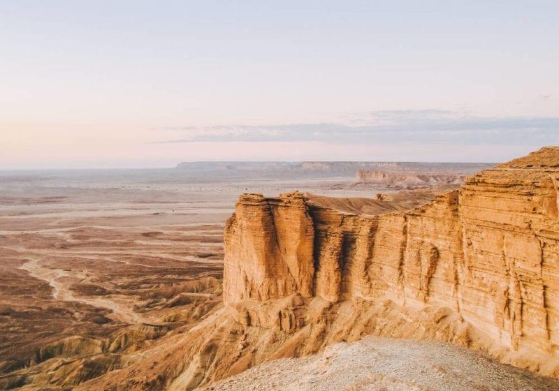 Desert plains in Saudi Arabia