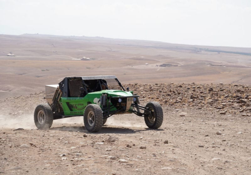 Dune buggy in the Moroccan desert