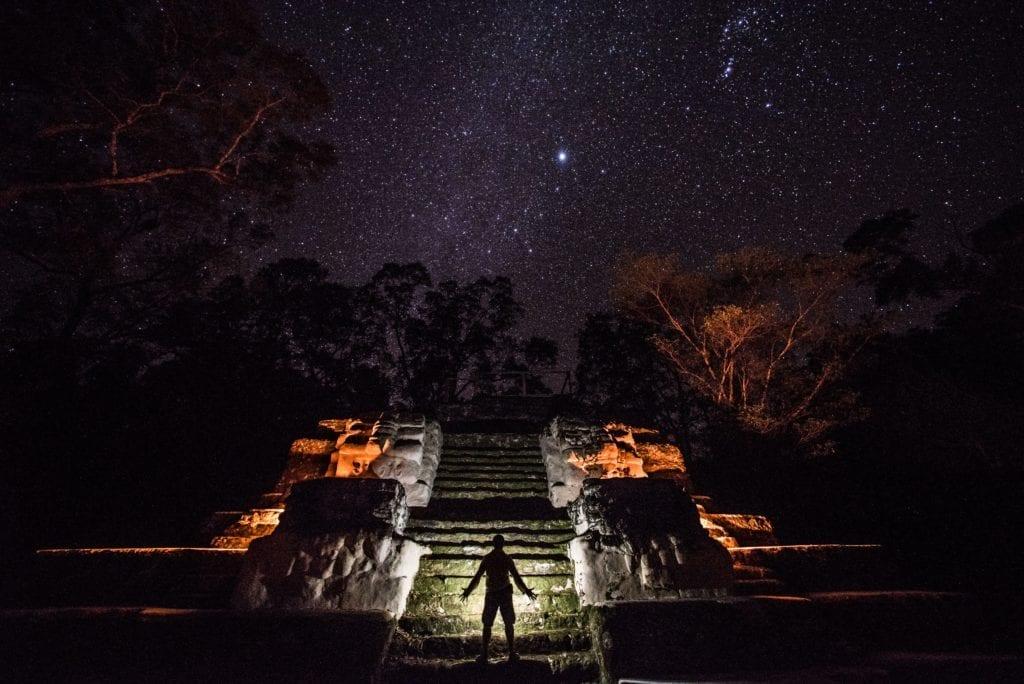 Guatemala Mayan Ruins by Starlight