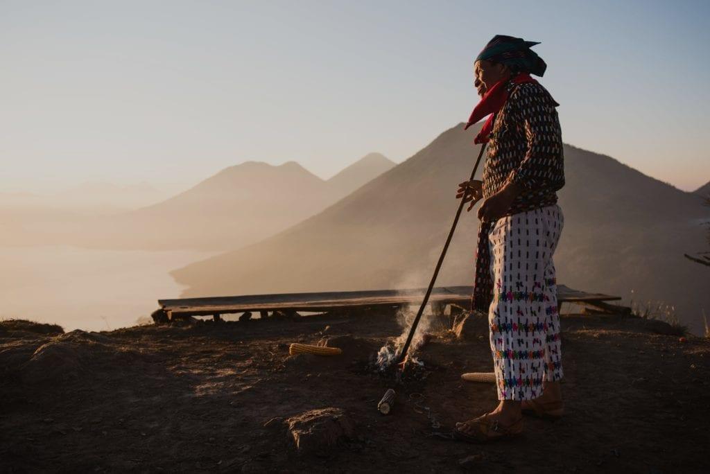 Guatemala Volcano Sunrise
