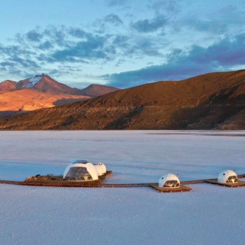 Kachi Lodge and the surrounding landscape in Bolivia