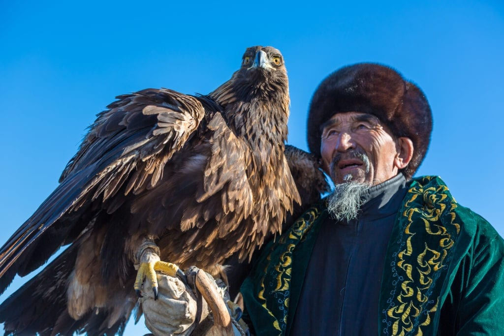 kazakhstan eagle hunter golden eagle