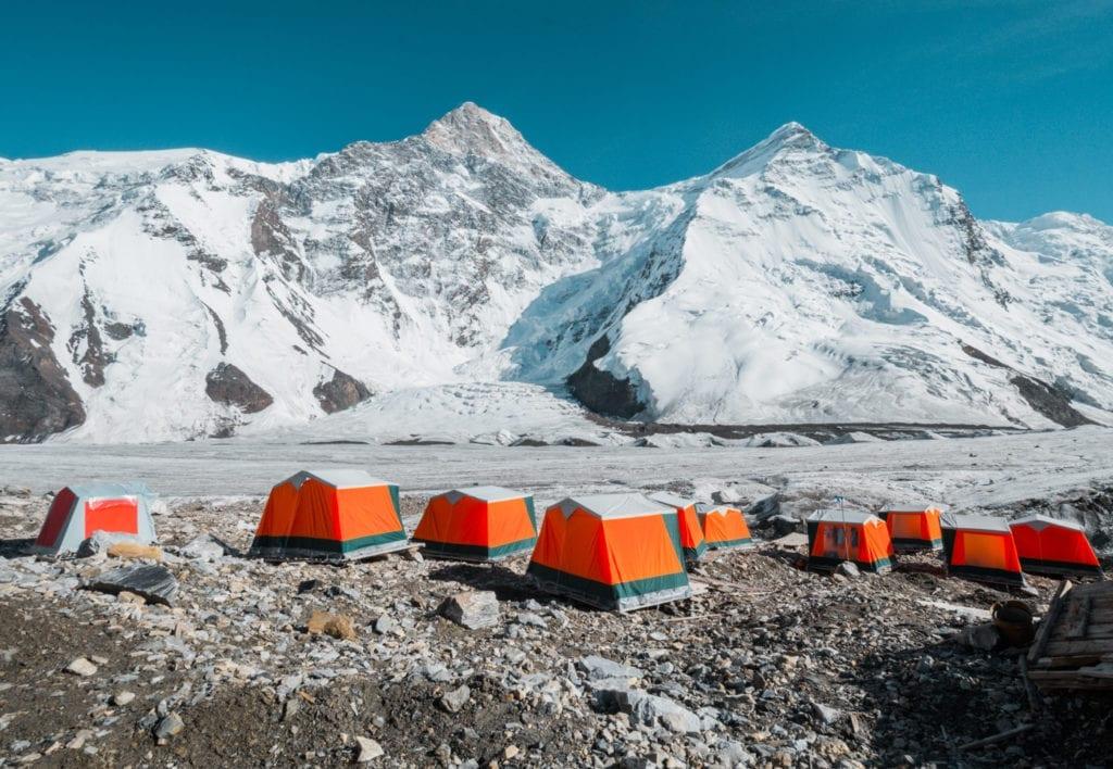 tian shan mountain campsite kazakhstan
