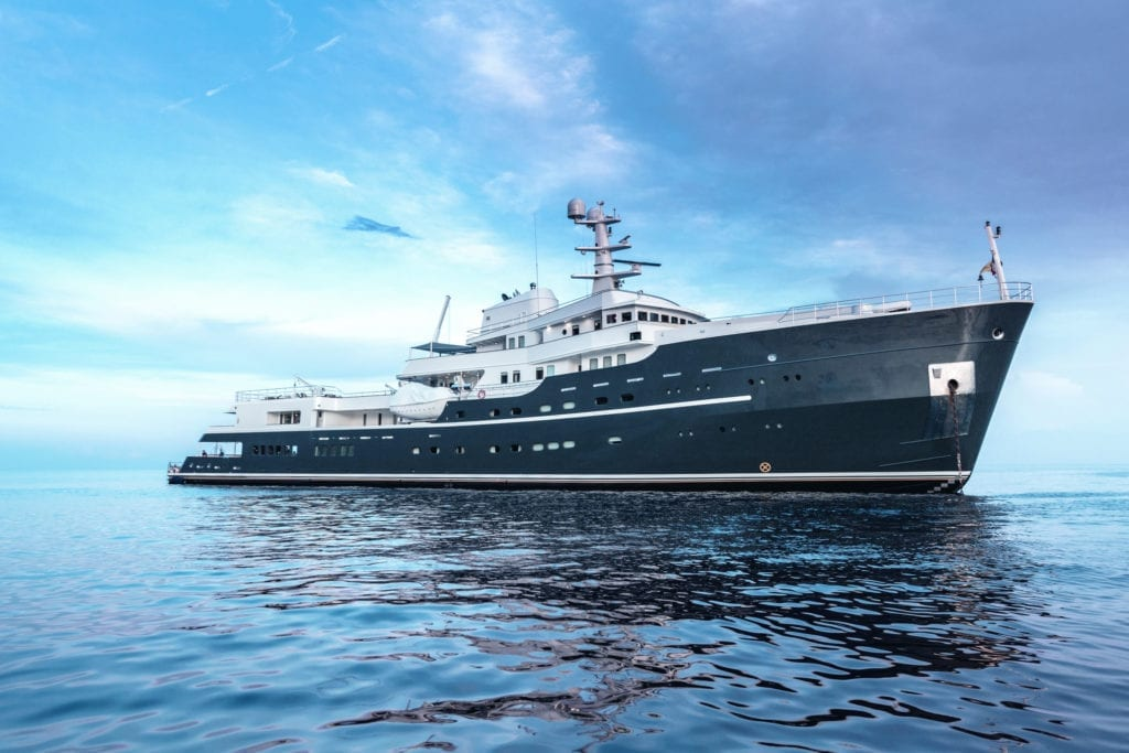 Exterior Profile of Legend Yacht