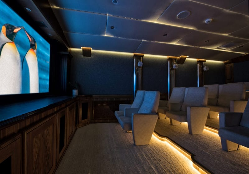 Cinema on board Legend Motor Yacht