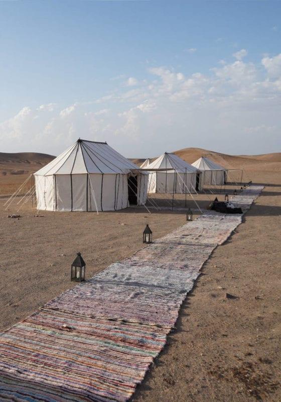 Luxury tents in the Moroccan desert