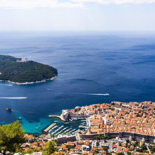 Dubrovnik and the Mediterranean Sea