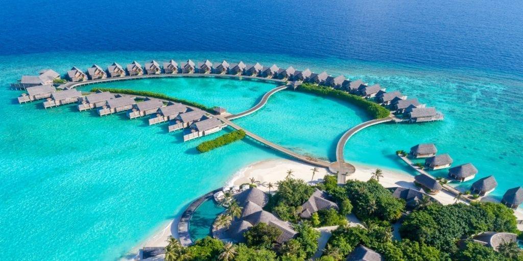 aerial view milaidhoo island