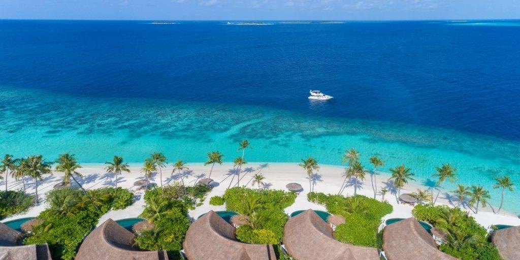 aerial ocean view milaidhoo island
