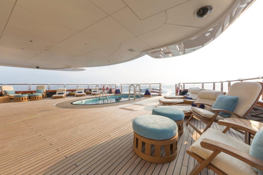 Main Deck Aft on Nirvana Yacht