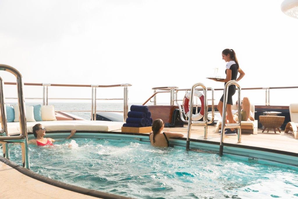 Main Deck Pool on Nirvana Yacht