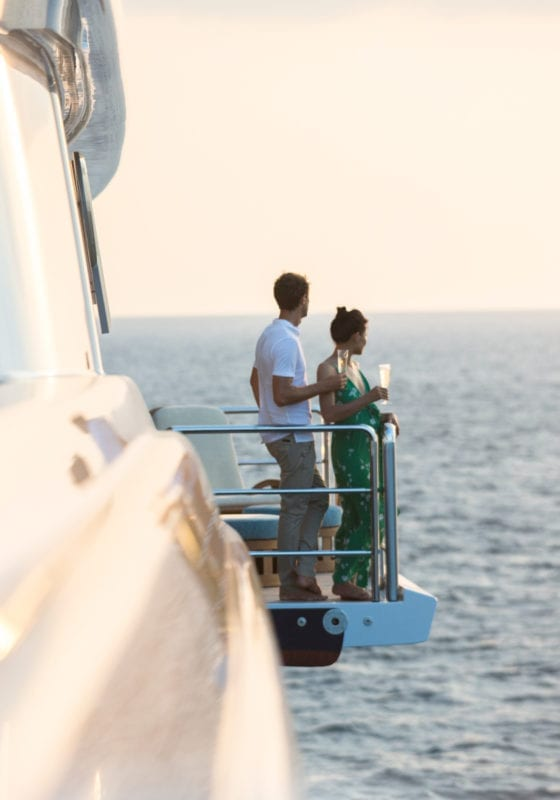 Balcony on the Master Deck of Nirvana Yacht