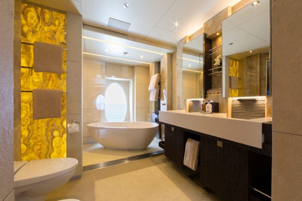 Ensuite Bathroom on board Nirvana Yacht