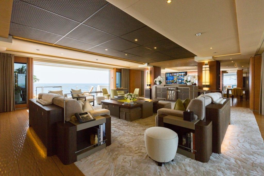 Master Deck Salon on Nirvana Yacht