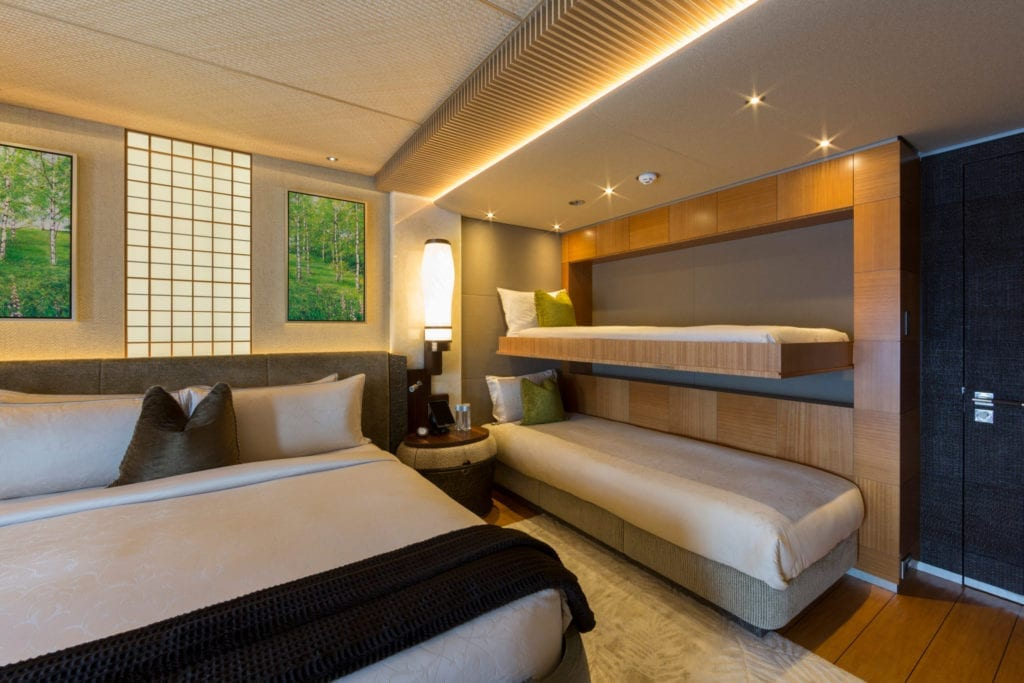 Double Guest Cabin with Pullmans on Nirvana Yacht