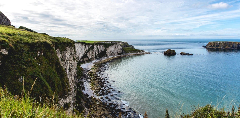 Coastal cliffs in Northern Ireland