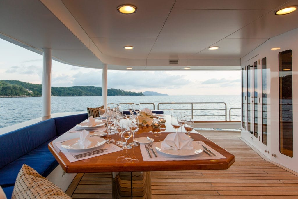 Northern Sun Yacht Exterior Deck Dining
