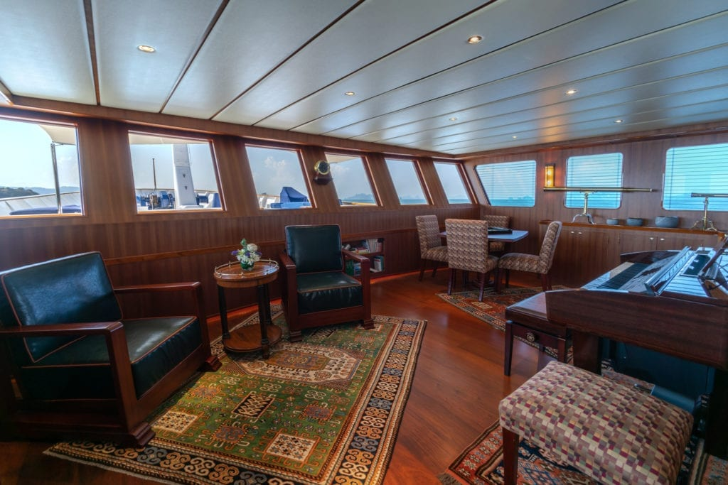 Northern Sun Yacht Interior Piano Lounge
