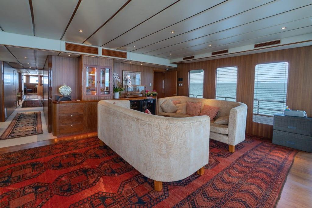 Northern Sun yacht Interior saloon