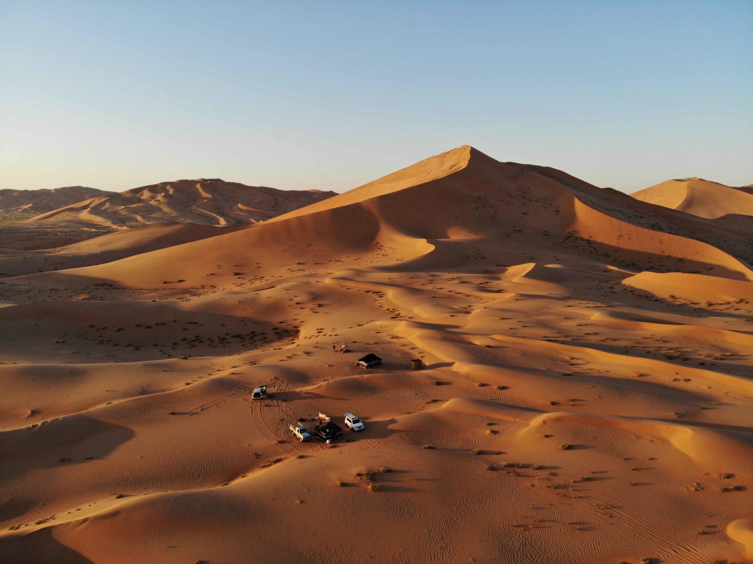 Bedu camp in the deserts of Oman