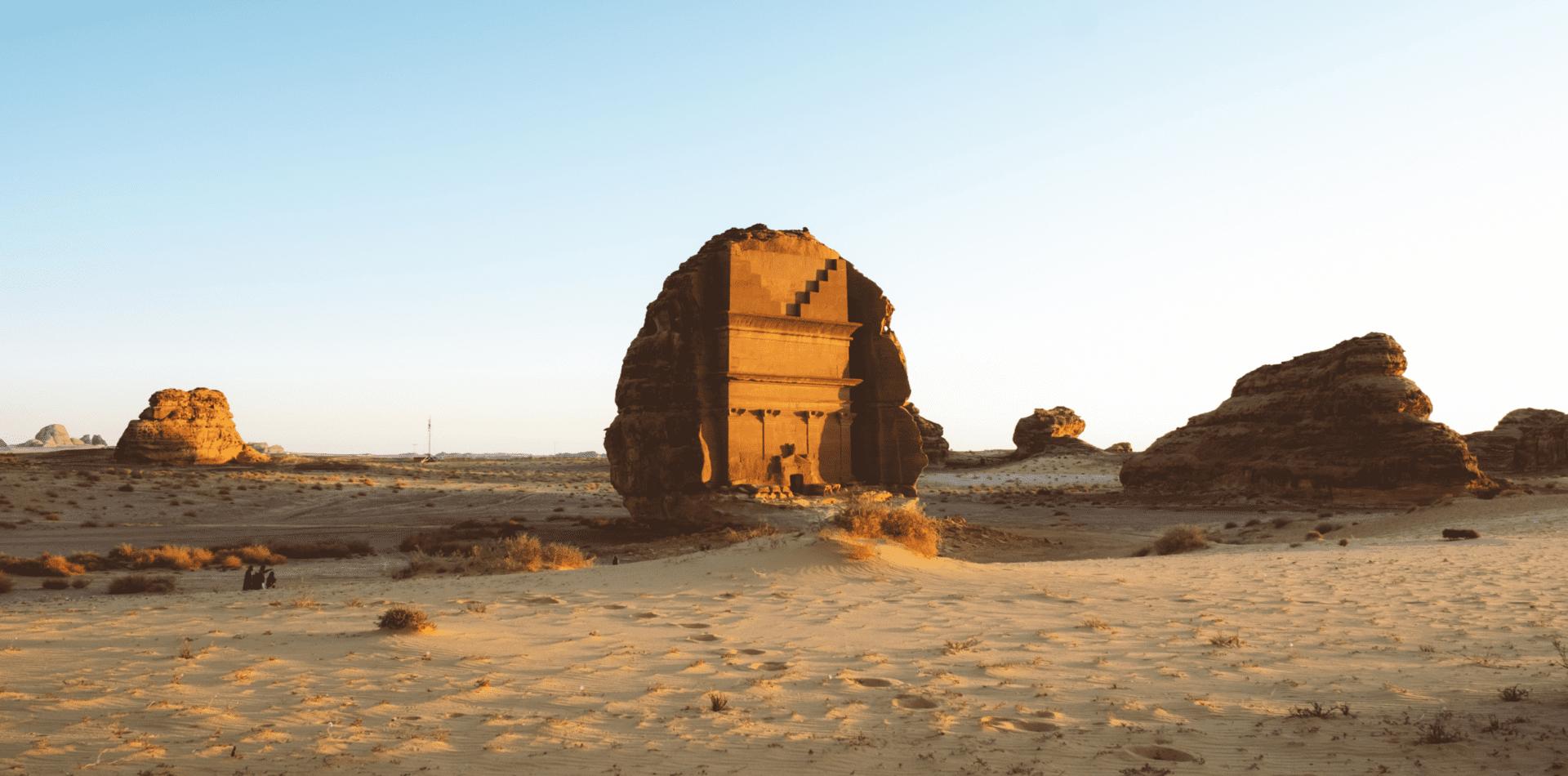 Hegra Sandstone Ruins in Al Ula, Saudi Arabia