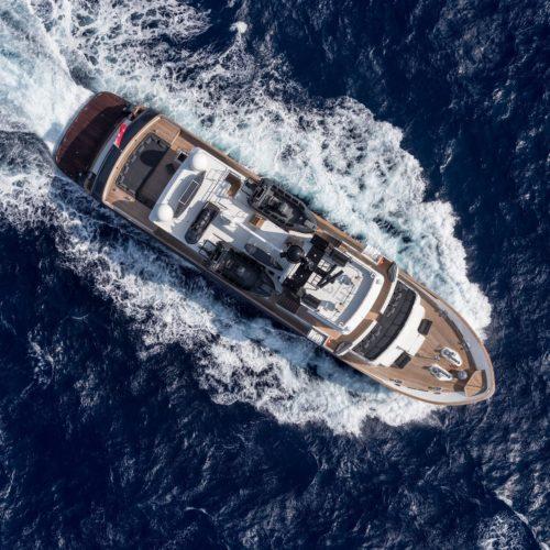 Aerial of RH3 Yacht Running
