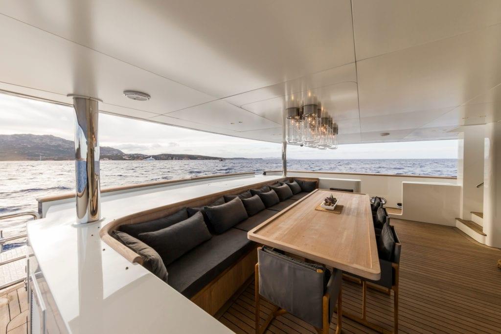 Main Deck Aft on RH3 Yacht