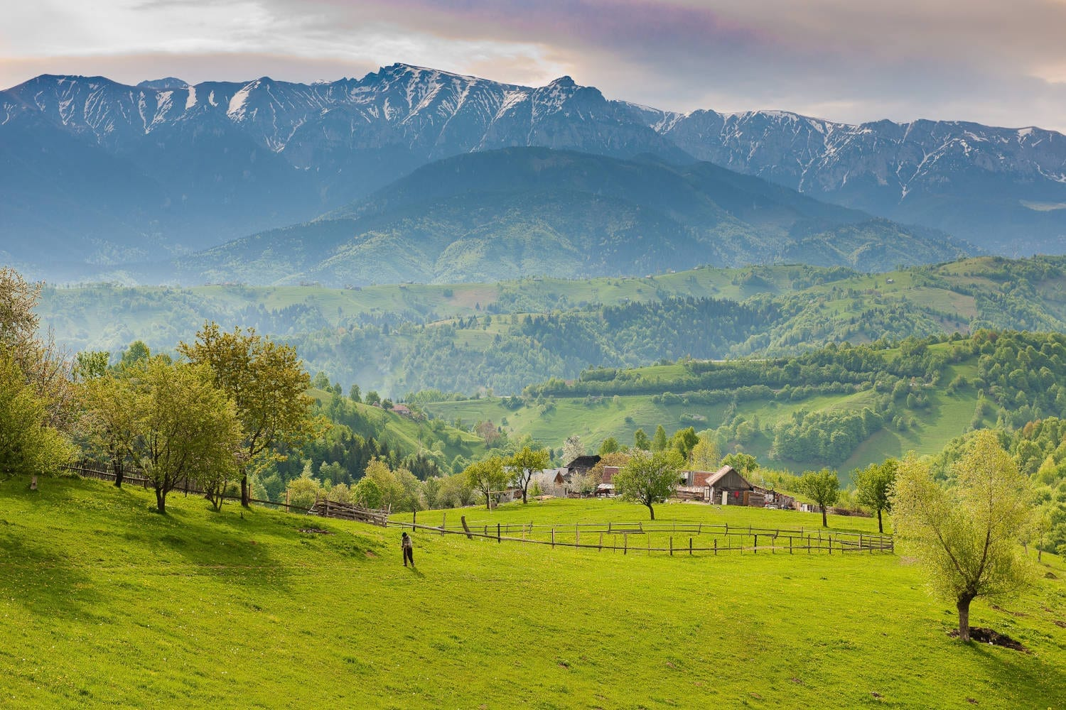 Mountain scenery in Romania