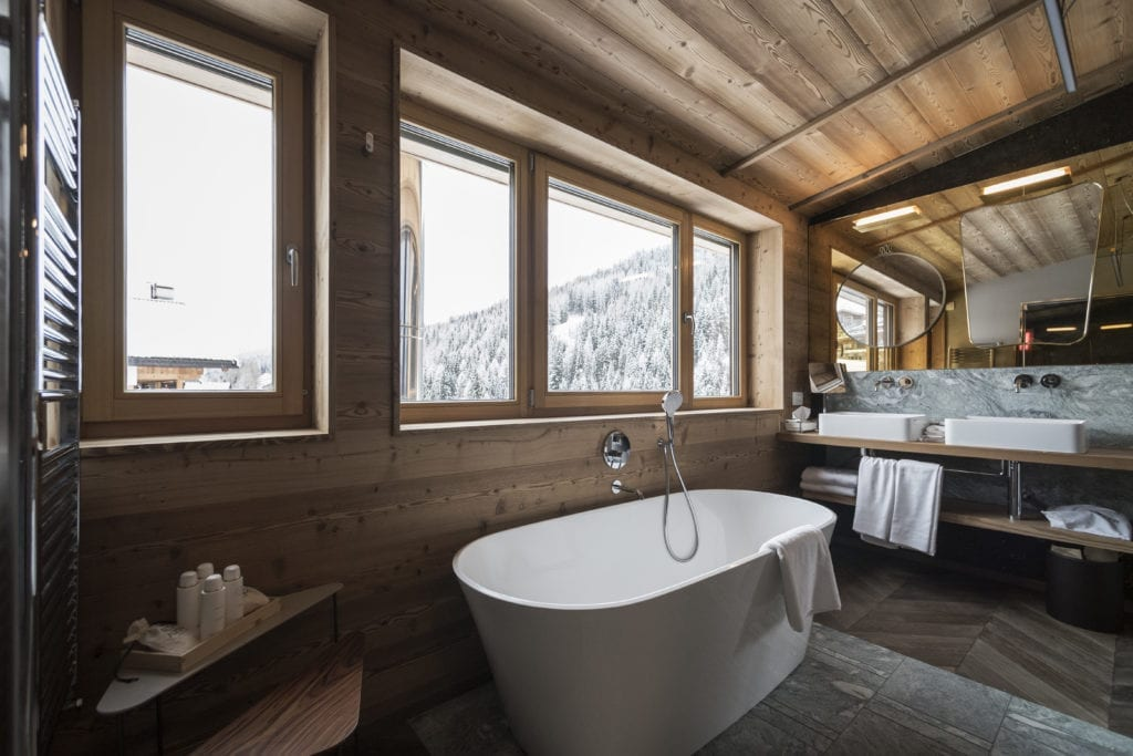 bathroom interior rosa alpina dolomites