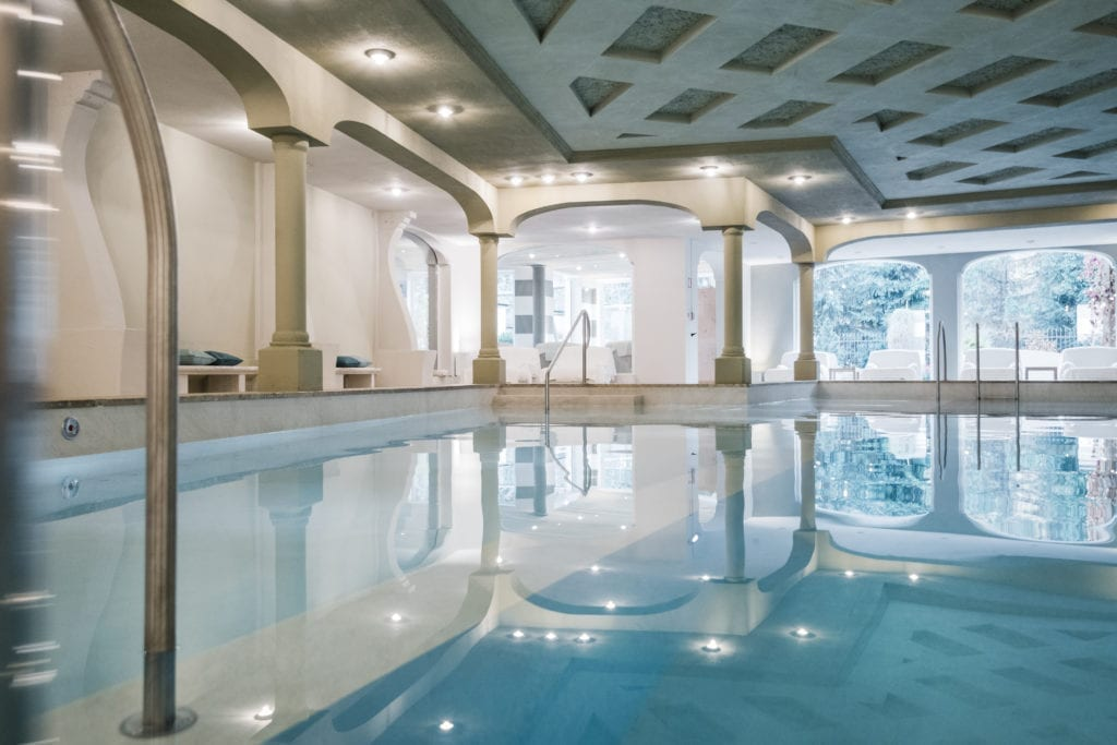 rosa alpina indoor swimming pool dolomites