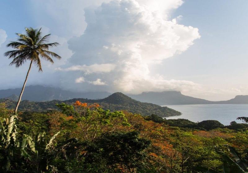 Volcanic coastline of Sao Tome and Principe