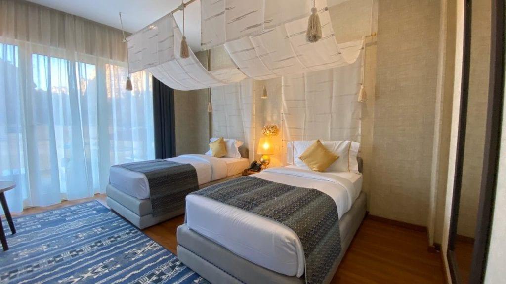 Shaden Resort Saudi Arabia twin bedroom interior