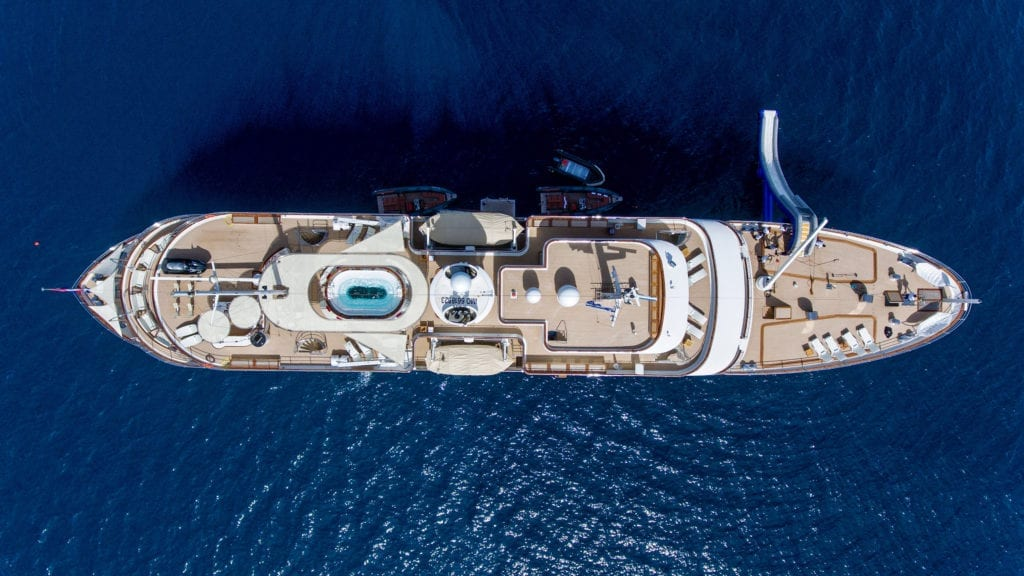 Sherakhan Yacht From Above