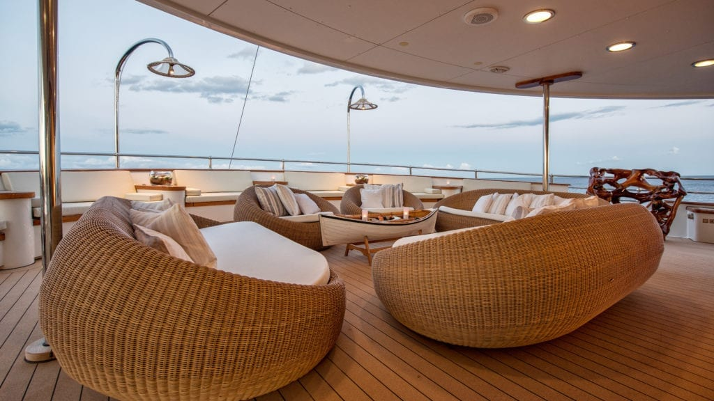 Exterior Lounge on Sherakhan Yacht
