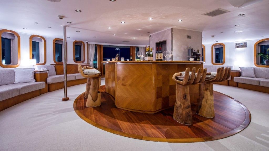 Sherakhan Yacht Interior Bar