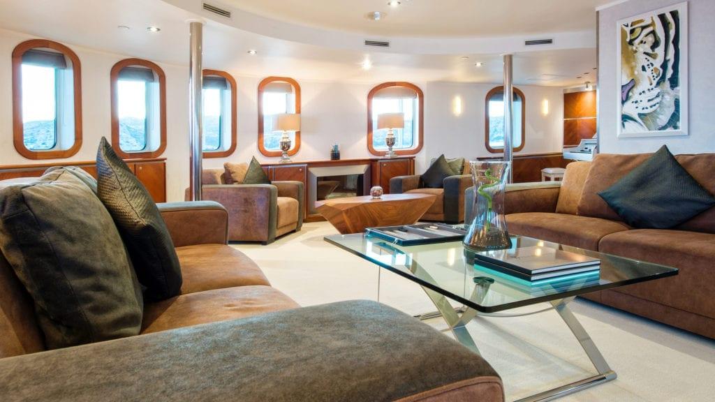 Interior Saloon on Sherakhan Yacht