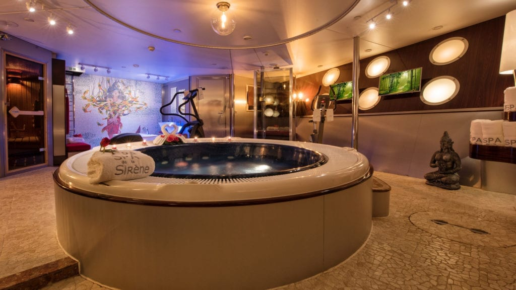 Spa on board Sherakhan Yacht