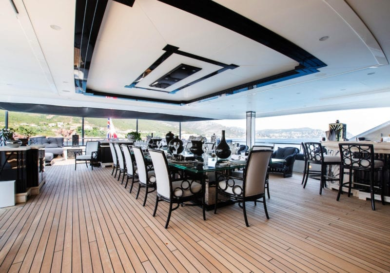 Silver Angel Yacht Deck Dining