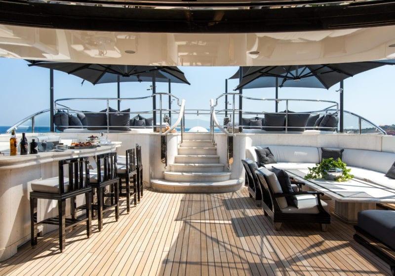 Silver Angel Yacht Sun Deck