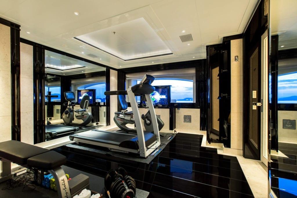 Silver Angel Yacht Interior Gym