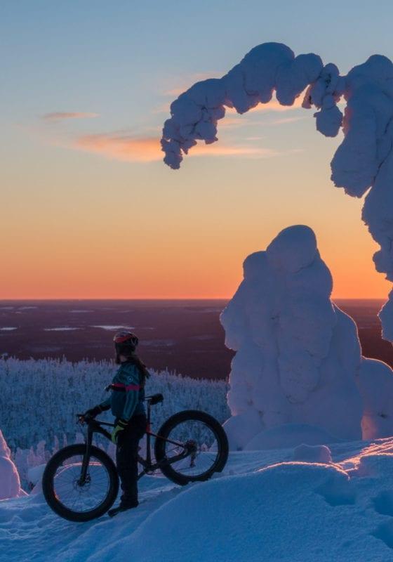 Snow biker in Finland