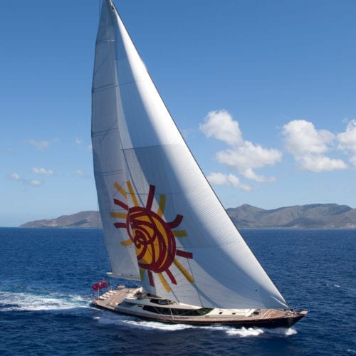 Tiara Yacht Under Sail