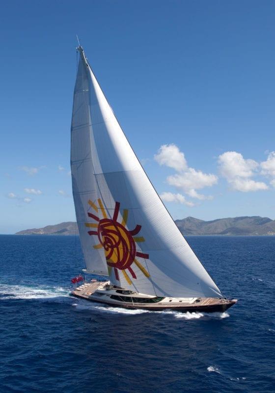 Tiara Yacht Under Sail